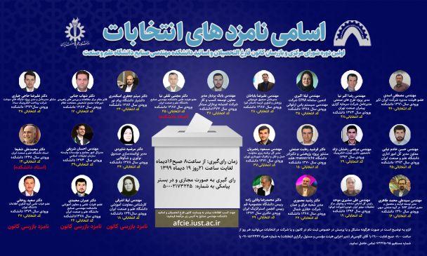 انتخابات کانون دانش آموختگان مهندسی صنایع